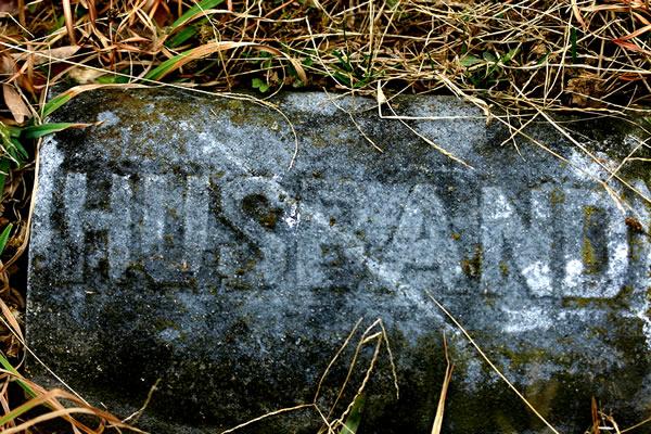 Grave Marker for Husband