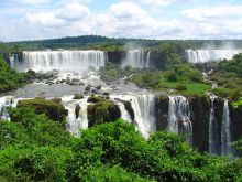 Iguaçu Falls between Brazil & Argentine