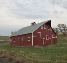 A barn on Irvin Klassen's farm in Walla Walla, WA